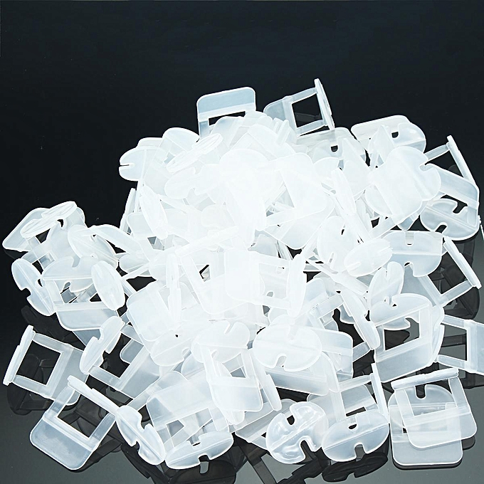 UNIVERSAL 100PCS Tile Leveling System Spacer Clips Wall Tiling Flooring Tool 1.5mm à prix pas cher