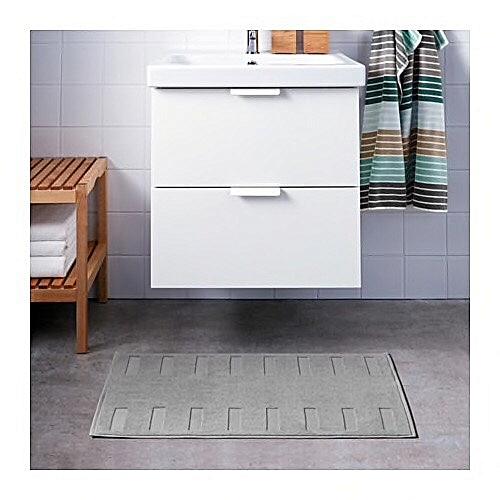 Commandez Ikea Tapis De Bain Gris Moyen 50x80 Cm à Prix Pas Cher