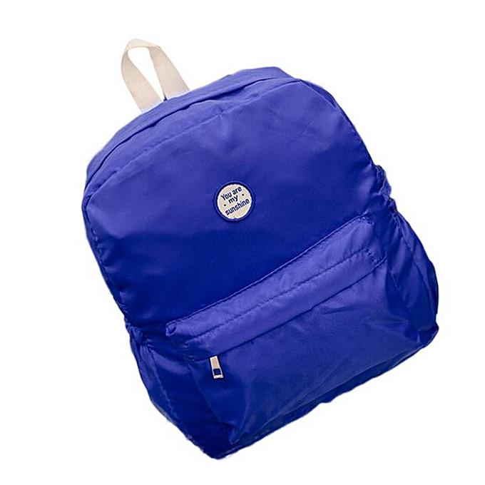 nouveauorldline Girls garçons Nylon School sac voyage sac à dos Satchel femmes Shoulder sac à dos BU- bleu à prix pas cher