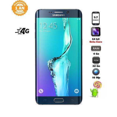 samsung galaxy s6 edge plus 32 go android 5 1 1 noir compatible 4g acheter en ligne. Black Bedroom Furniture Sets. Home Design Ideas