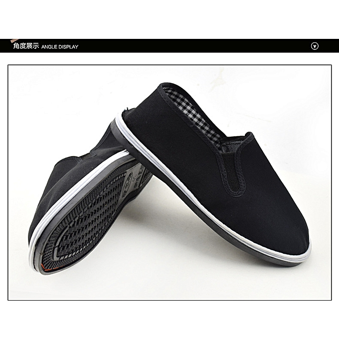 Fashion Men's chaussures Vintage Canvas chaussures - noir à prix pas cher    Jumia Maroc