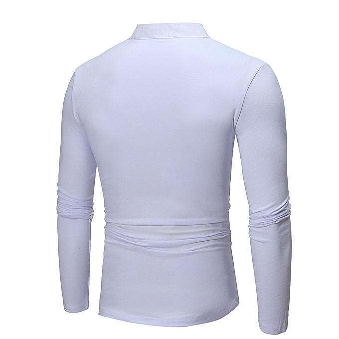 Fashion jiuhap store Men's Casual Slim Fit Long Sleeve T-shirt Shirt Tops à prix pas cher