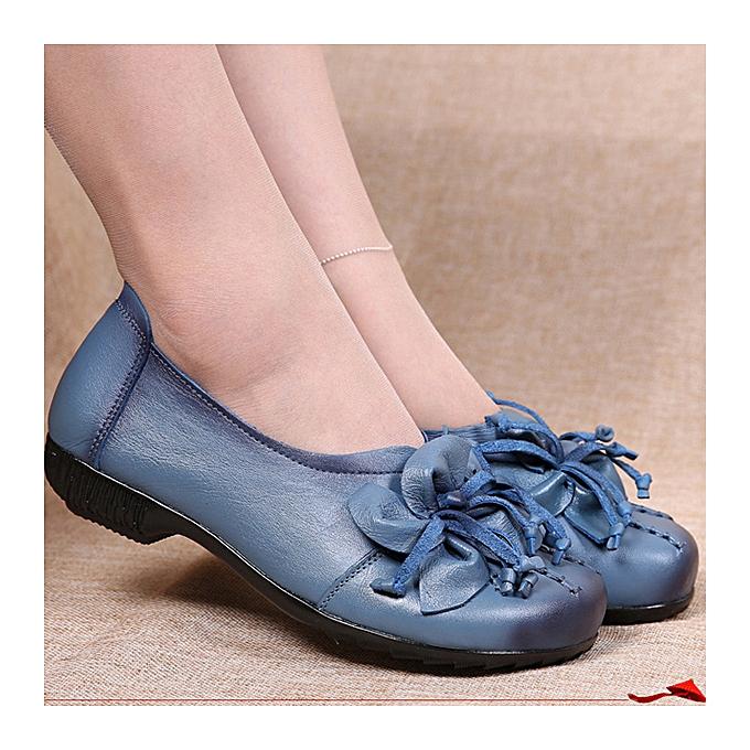 UNIVERSAL femmes Loafers Bohemia Flower Tassel Soft Leather Flat Casual chaussures à prix pas cher    Jumia Maroc