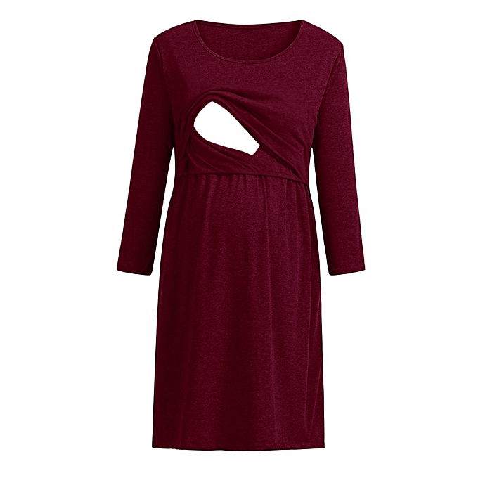 Fashion Wohommes Pregnancy Circular Collar Dress Maternity Nursing Baby Sundress à prix pas cher