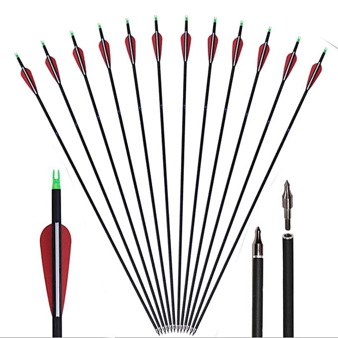 OEM 12 pièces 30 & quot;Arc classique de flèches de carbone de fibre de carbone extérieure avec la pointe à prix pas cher