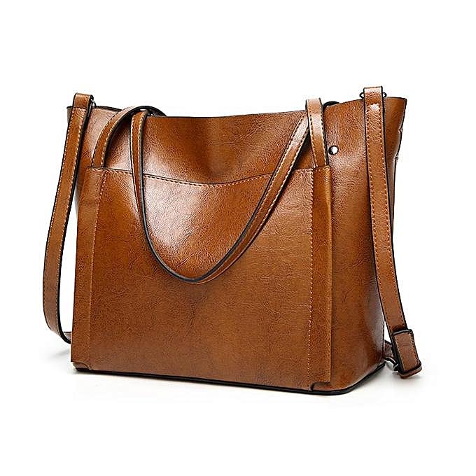 mode femmes Oil cuir Tote Handsacs Vintage Shoulder sacs capacité bandoulière sacs à prix pas cher