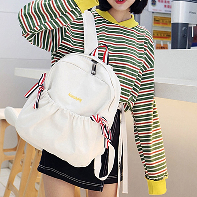 mode Xiuxingzi femmes Girl Bow toile sac à dos Double Shoulder sac voyage School sac à prix pas cher
