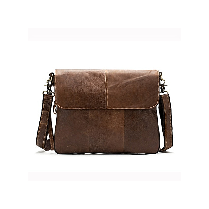 Other WESTEL Bag Men's  Leather Crossbody Bags for Men Cover &Zipper Male Messenger Bag Men's Shoulder Bags Man Handbags 8007(8007mosha marron) à prix pas cher
