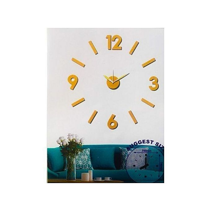autre horloge murale design 3d or acheter en ligne jumia maroc. Black Bedroom Furniture Sets. Home Design Ideas