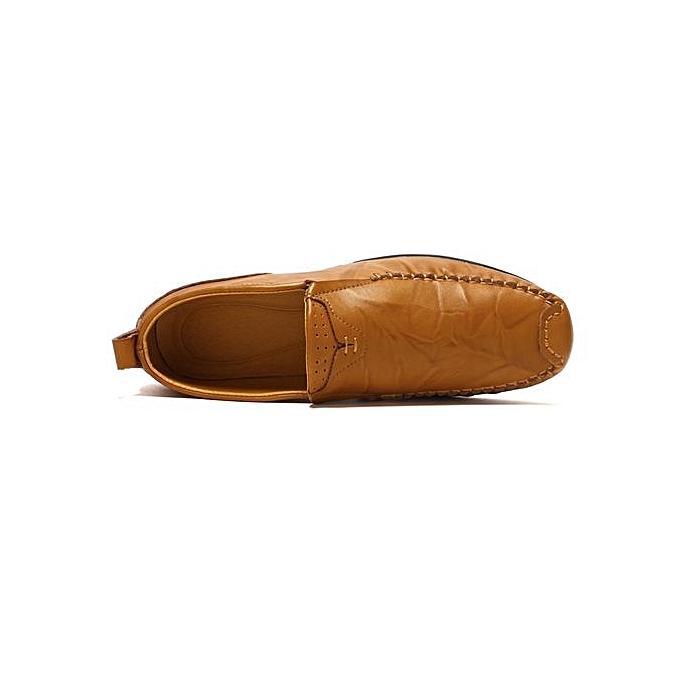 Fashion Size Plus Size Fashion Leather Shoes Comfy Loafer Flats-Yellow à prix pas cher    Jumia Maroc 092576