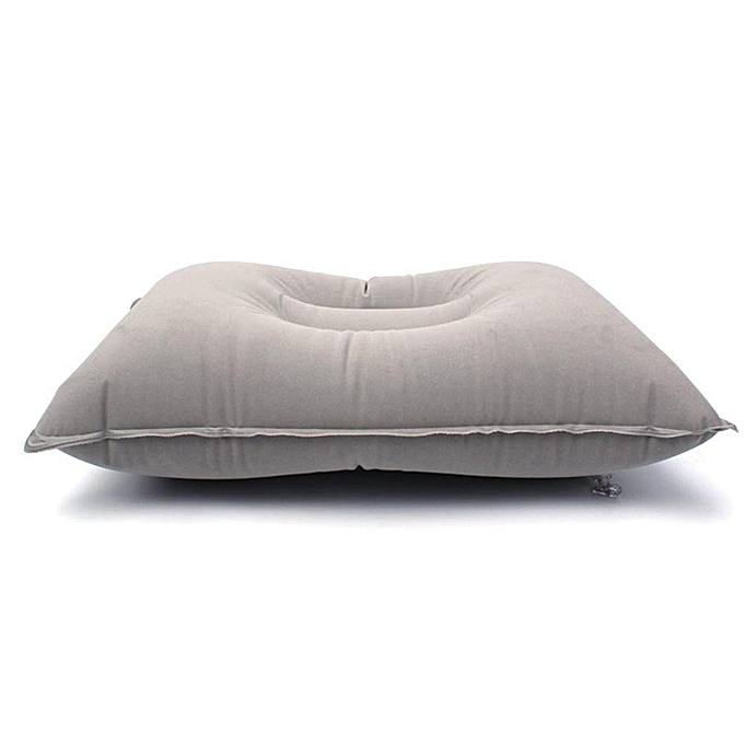 Generic Outdoor Travel Air Pillow Portable Inflatable Cushion Camp Beach Car Plane Bed Sleep Head Rest for Outdoor Sport Mattress Pillow(Flat Taille 42X29cm)(Light gris) à prix pas cher