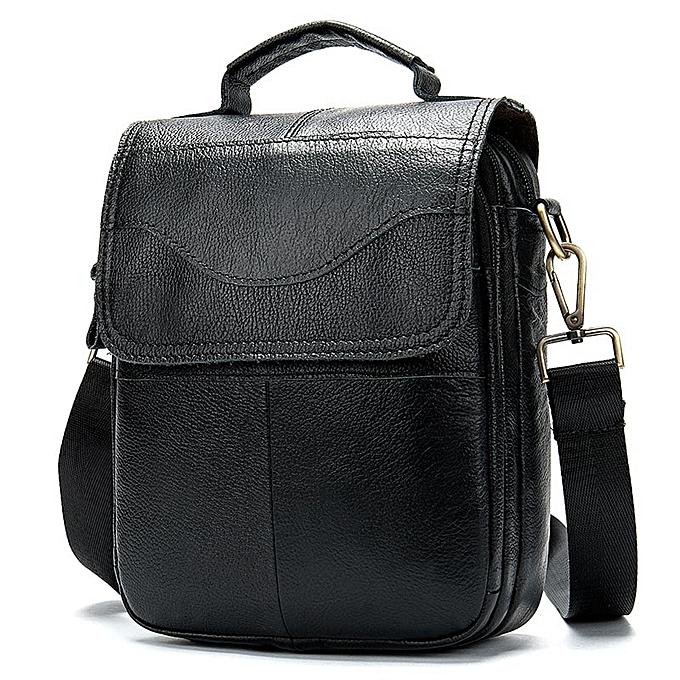 Other WESTAL Bag Men's  Leather messenger shoulder bag for men leather fashion Small Flap homme male Crossbody bags handbags 8558(8558noir) à prix pas cher