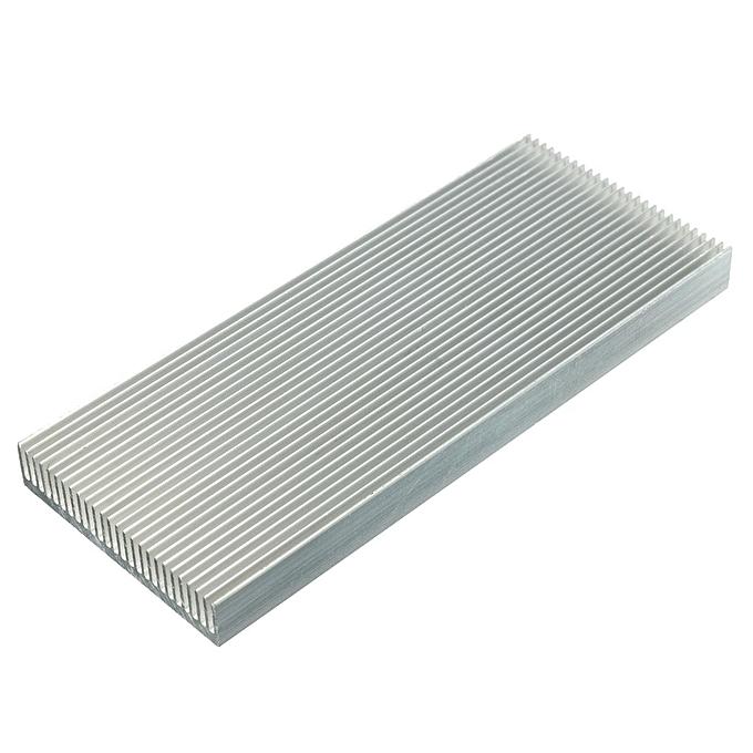 UNIVERSAL 6pcs 100x41x8mm Aluminum Heat Sink Heatsink for High Power LED Amplifier Transistor à prix pas cher