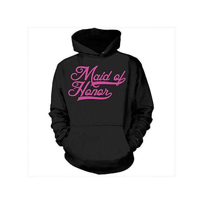 Generic Maid Of Honor Hoodie Wedding Sweatshirt Gift For Maid Of Honor Bachelorette Party Hooded Sweater à prix pas cher