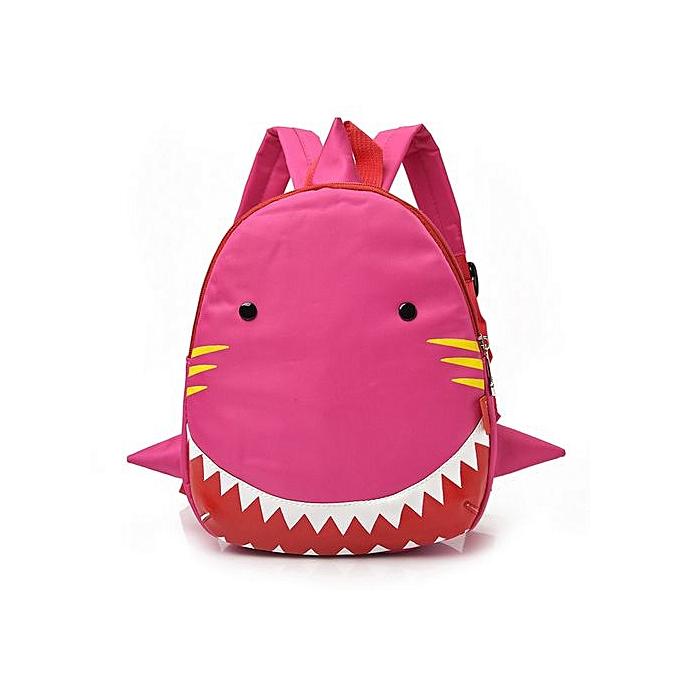 mode Singedan  garçons Girls Enfants Shark Pattern Animals sac à dos Toddler School sac -rose à prix pas cher