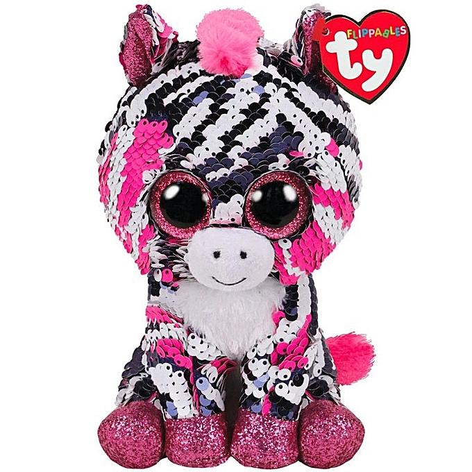 Autre Ty Beanie Boos Sequin Animal Plush Toys Doll Malibu The Cat Moonlumière The Owl Jewel the Fox Best Christmas 15cm(Zoey The Zebra) à prix pas cher