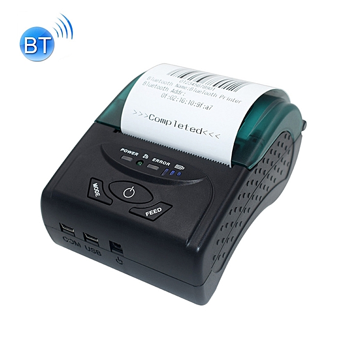UNIVERSAL POS-5807 58mm Portable USB Port Thermal bleutooth Ticket Printer, Max Supported Thermal Paper Taille  57x50mm à prix pas cher