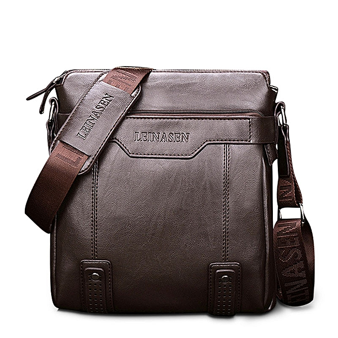 Other Men's Leather Briefcase PU Material 15inch Men's Shoulder Bag For Men Crossbody Bags 2019 Fashion Bussiness Briefcase handbag(darkmarron) à prix pas cher