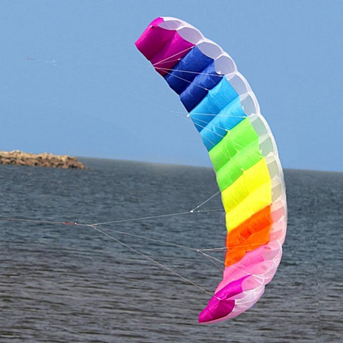 Generic 2.7m   Dual Line Parachute Soft Parafoil Flying Surfing Kite Huge Large à prix pas cher