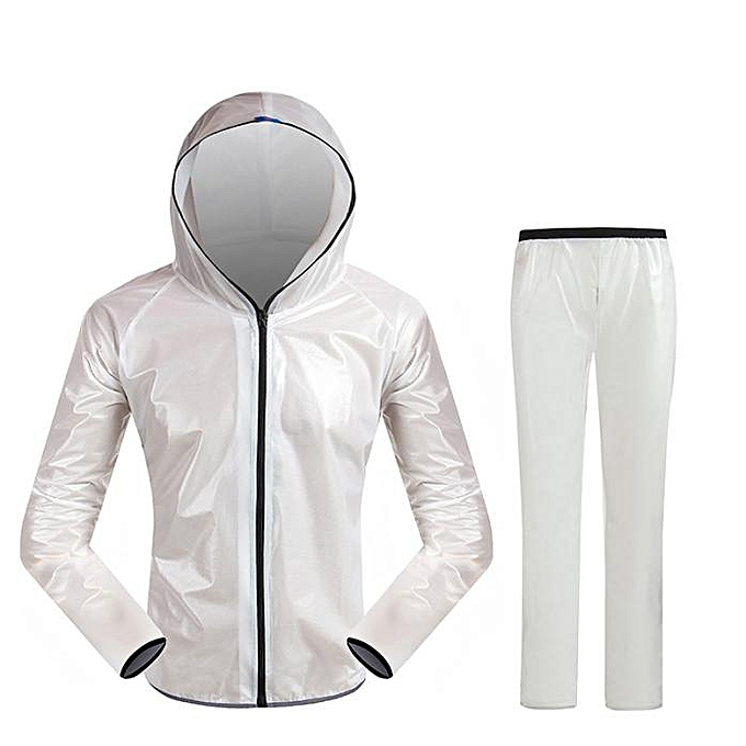 Generic Tcetoctre Men femmes Windproof Waterproof Jacket Bike Bicycle Outdoor Sports Rain Coat M-As Shown à prix pas cher