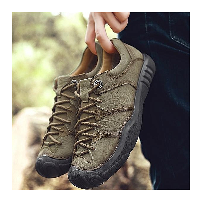 Fashion Fashion   Cow Leather Anti-collision Wear-resistant Wear-resistant Anti-collision Outdoor Casual Flats Shoes-EU à prix pas cher  | Jumia Maroc c461fb