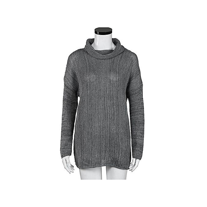 Fashion Xiuxingzi_femmes Loose Long Sleeve Fall Winter OverTaille Sweater Jumper Shirt Tops DG M à prix pas cher
