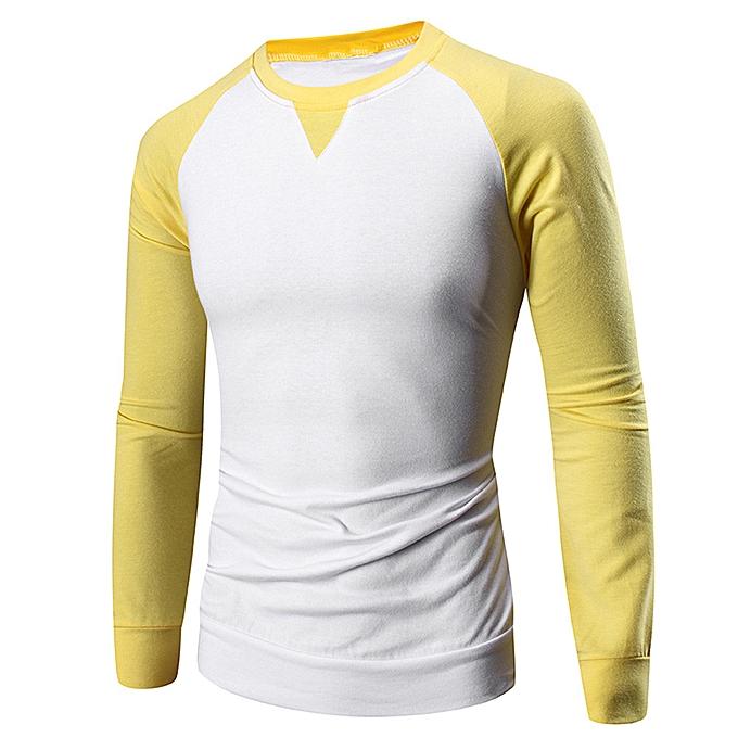 Fashion Fashion Personality Men's Casual Slim Long Sleeve T-Shirt Top Blouse à prix pas cher