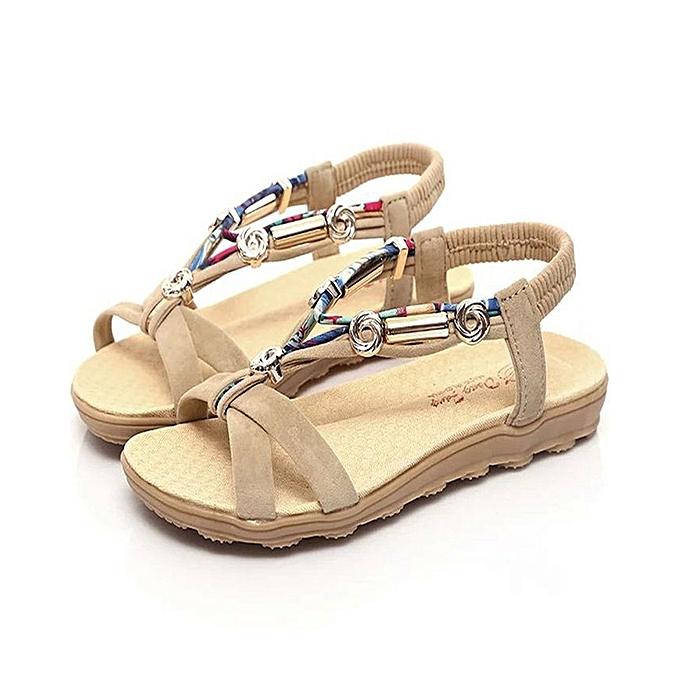 Neworldline Wohommes Summer Sandals chaussures Peep-toe Low chaussures Roman Sandals Ladies Flip Flops à prix pas cher