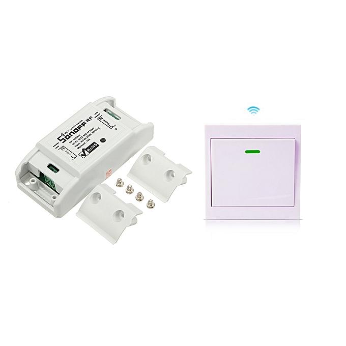 SONOFF SONOFF® RF 7A 1500W AC90-250V DIY WIFI Wireless Switch Socket Module à prix pas cher