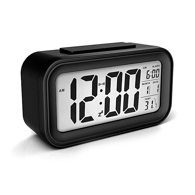 Other Digital Alarm Clock Smart Clock with Time Date Temperature Calendar Thermometer Snooze Display and Controlable Backlight (noir) LJMALL à prix pas cher