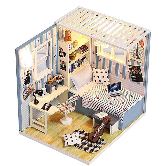 Autre VAKIND - Jouet pour enfants Modèle de maison de poupée en bois fait main de bricolage à prix pas cher