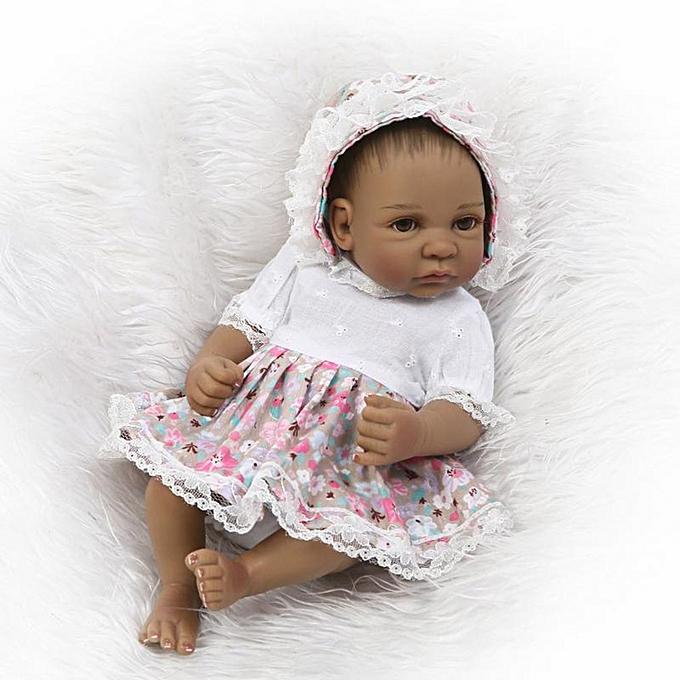 Generic DM 26cm nouveauborn   Doll Toys Full Body Soft Silicone Vinyl Handmade-Couleurful à prix pas cher
