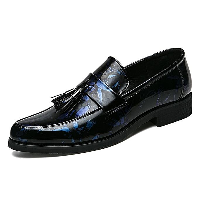 Fashion Tassel Patent Leather Moccassins Men Casual chaussures (bleu) à prix pas cher    Jumia Maroc