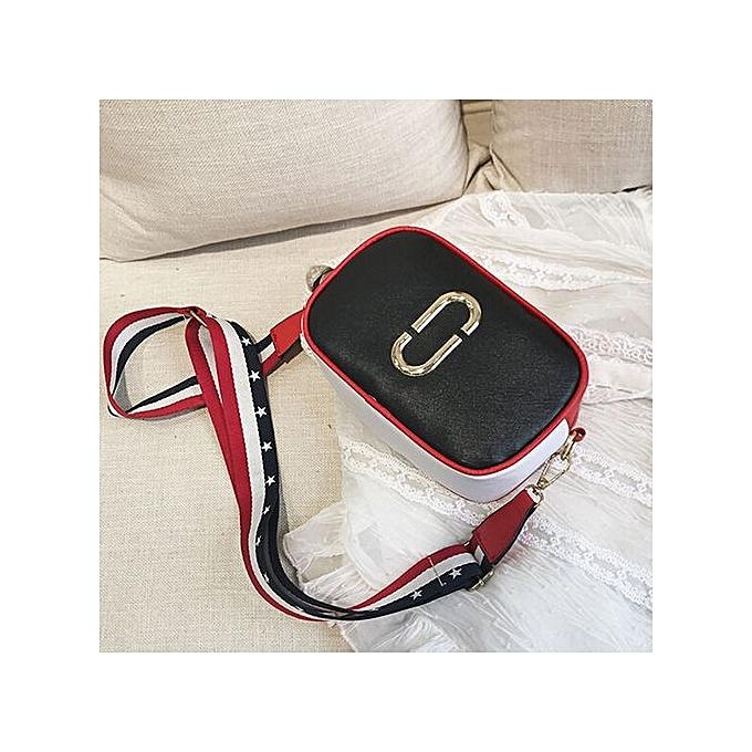 Neworldline Fashion femmes Leather Handbag Crossbody Shoulder Messenger Phone Coin Bag- noir à prix pas cher