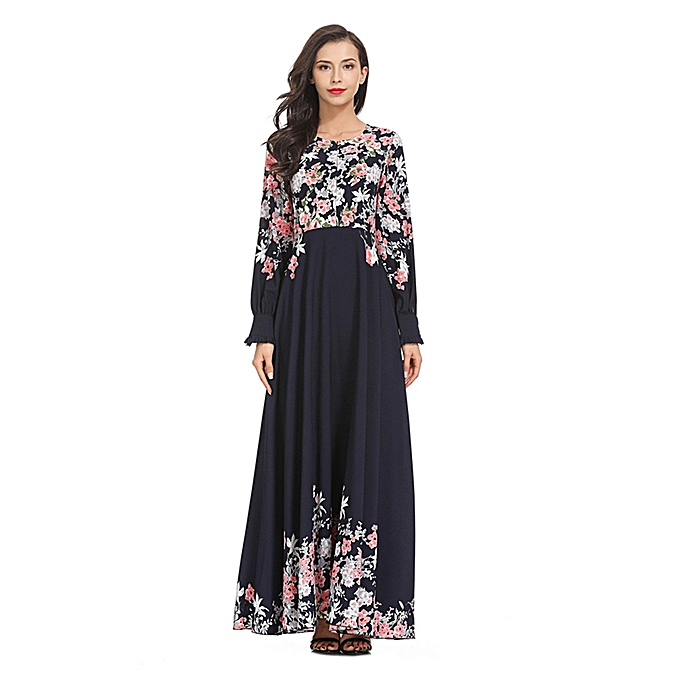 mode whiskyky store femmes Muslim Loose Solid Couleur Robe Clothing Abaya Islamic Arab Kaftan à prix pas cher