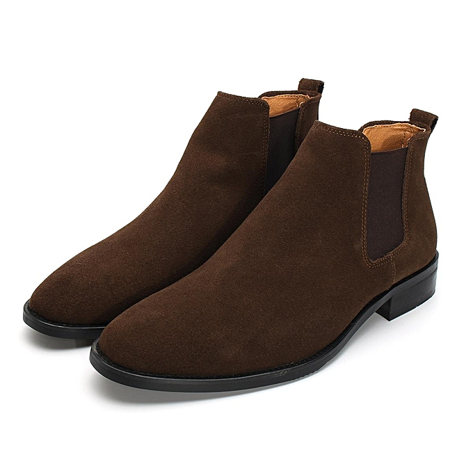 Fashion  s Ankle Boots Genuine Genuine Boots Leather Pointed Block Heel Fashion Casual Shoes-EU à prix pas cher  | Jumia Maroc f6d52a