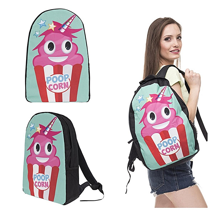 UNIVERSAL Cute Girls Emoji Unicorn Backpack School Bags Laptop Rucksack Tote Shoulder Bag à prix pas cher