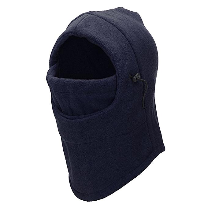 Autre Thermal Fleece Balaclava Hat Hood Ski Bicycle Motorcycle Racing Face Mask Neck Helmet Cap( bleu) à prix pas cher
