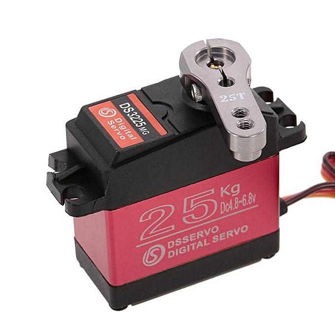 OEM Servo imperméable de Digital de couple élevé d'engrenage en métal de DSSERVO DS3225 25KG pour RC Airp à prix pas cher