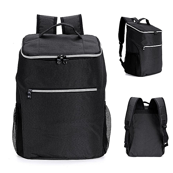 UNIVERSAL 20L Large Capacity Cooling Heat Insulated Travel Drink Lunch Waterproof Backpack gris   rouge à prix pas cher