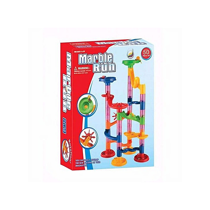 Generic DIY Marble courir Coaster Maze Toy - Hanmun DIY Marble Race Toy 50 Piece à prix pas cher