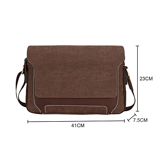 Other 2018 New 1PC Casual Business Mens Messenger Bag Fashion Design Brand Men's Messenger Bags Oxford Vintage Mens Handbag Best Gift(C) à prix pas cher