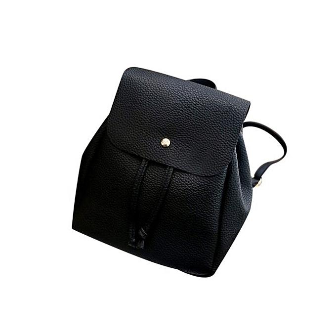 Fashion Tectores femmes Leisure Student Schoolbag Drawstring Satchel Shoulder Backpack Soft Bags à prix pas cher