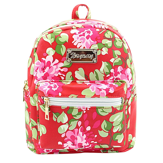 Fashion Singedan Shop femmes Leather Printing Backpack School Bags Travel Backpacks RD à prix pas cher