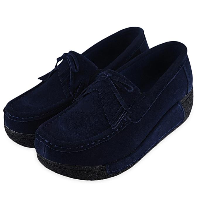 Fashion Chaussure Chaussure Fashion à Talons Pour Femmes - Bleu Foncé à prix pas cher  | Jumia Maroc 1734d8