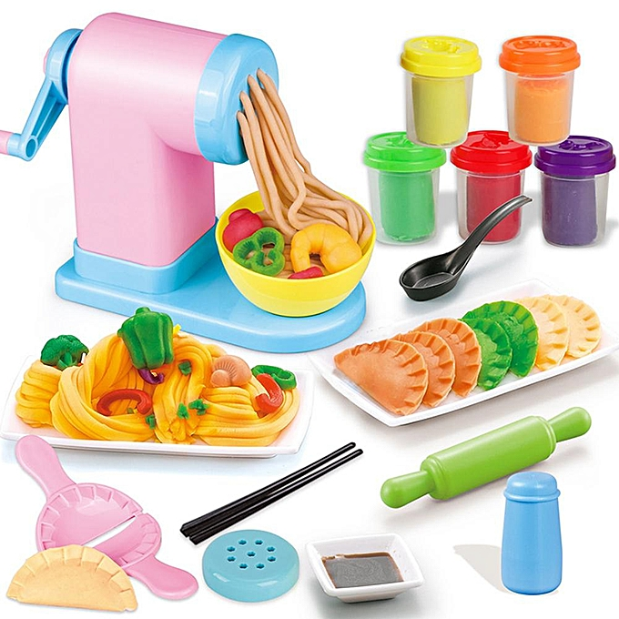 Autre Esprit libre bricolage 3D pâte à modeler simuler main jouet de cuisine fabricant de nouilles cuisine pour enfants filles à prix pas cher