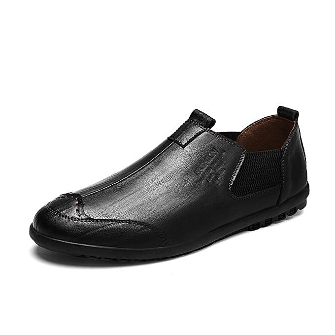 Fashion Fashion   Cow Cow  Leather Slip On Soft Sole Casual Shoes Flats Loafers-EU à prix pas cher  | Jumia Maroc a06d81