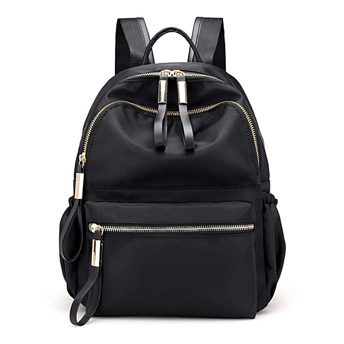 Generic TB Fashion femmes Ladies Oxford Cloth Backpack Small Taille Travel Shoulder Bag-noir à prix pas cher