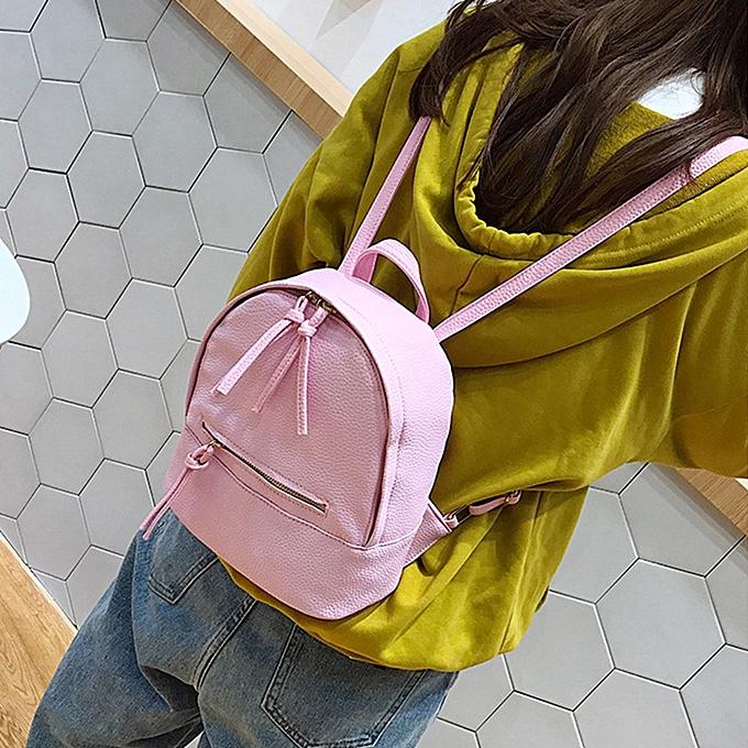 mode Tcetoctre Wohommes Preppy Style Letter sac à dos Mini voyage Shoulder sac PK-rose à prix pas cher
