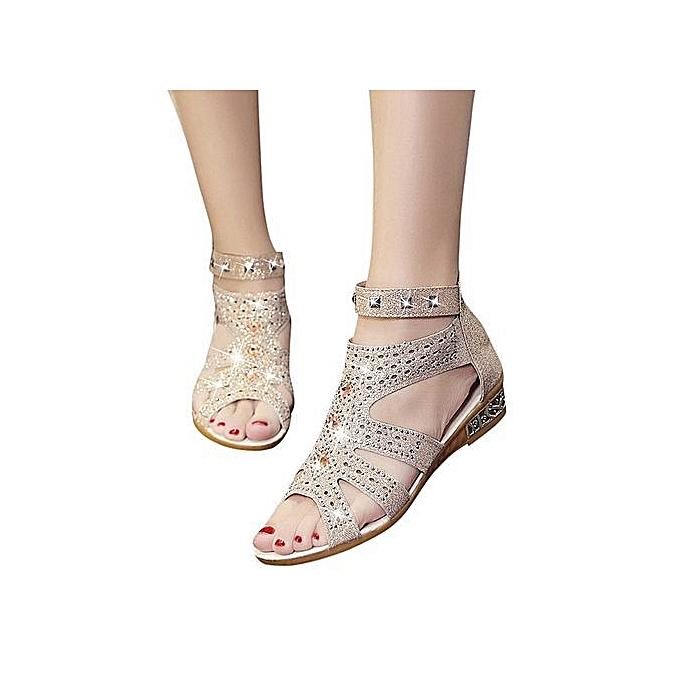 OEM Summer Ladies femmes Wedge Sandals Fashion Fish Mouth Hollow Roma chaussures-Beige à prix pas cher    Jumia Maroc